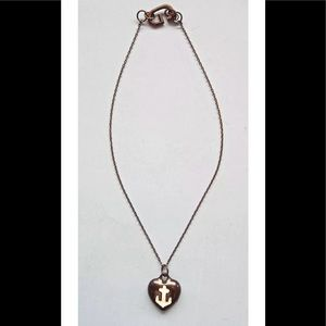 Giles & Brothers Anchor Nautical Gunmetal Necklace